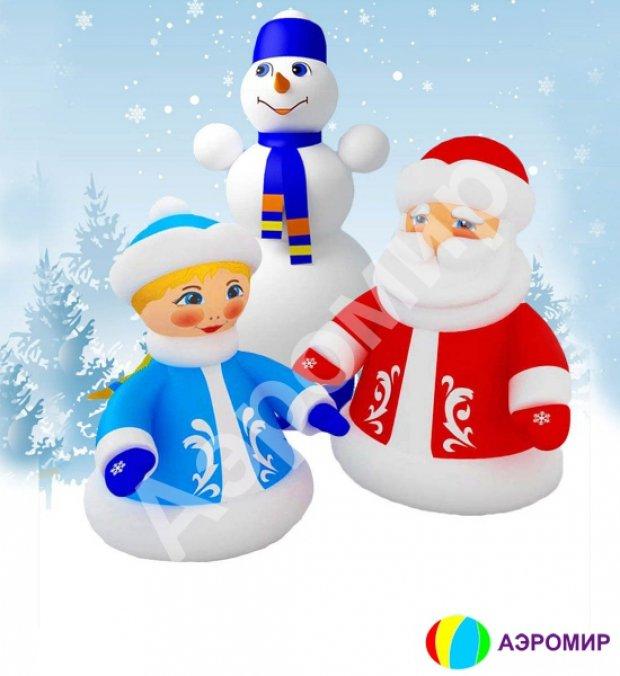 Картинки деда мороза снегурочки и снеговика, новым годом