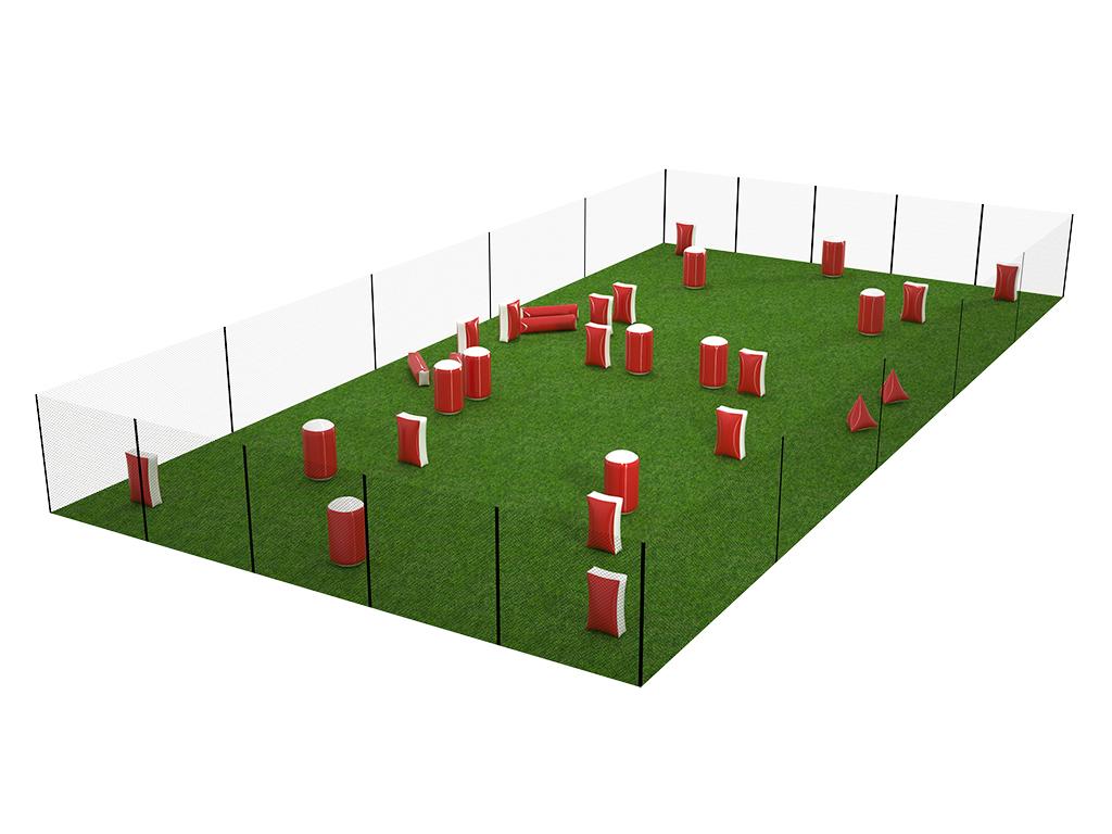 Пример игровой площадки 15 х 25 м