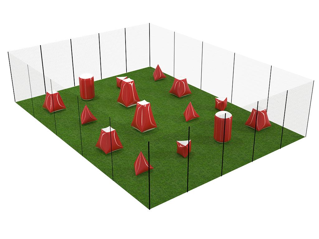 Пример игровой площадки 15 х 15 м